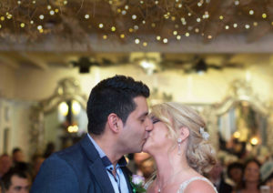 First Kiss as a Married Couple at the Priory Scorton - Lancashire