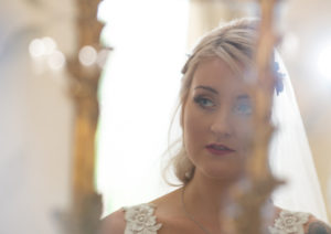 Bride Mirror Shot Eaves Hall Hotel Clitheroe Professional Wedding Photography