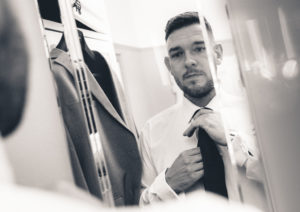 Groom Getting Ready Eaves Hall Clitheroe Wedding Photography